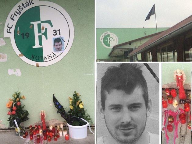 Ve Fryštáku při fotbalu tragicky zemřel v srpnu 2016 mladý 22letý hráč Martin Troják