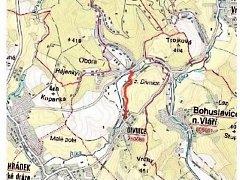 Mapa - cyklostezka