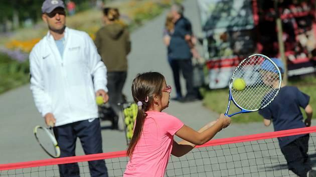 Sportování dětí.