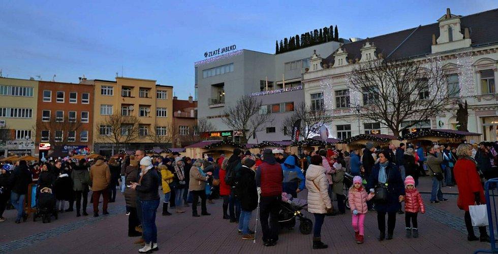 Rozsvícení vánočního stromu ve Zlíně, 1.12.2019