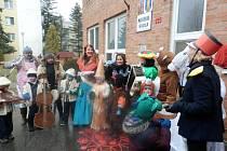 Déšť děti z Malenovic neodradil a užily si masopustní průvod
