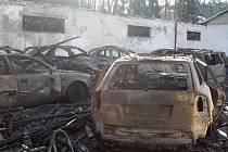 Hořel autobazar ve Slavičíně, prý nebyl pojištěn