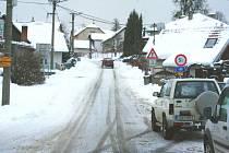 Sníh na Zlínsku. Ilustrační foto.