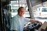 Řidič autobusu. Ilustrační foto