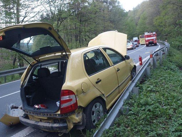 Dopravní nehoda u Luhačovic.