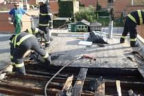 Zásah hasičů ve Zlíně