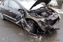 Nehoda zablokovala cestu v Lukovečku