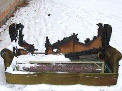 Požár domu v Bělově.