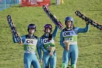 Páteční superkombinace na mistrovství světa vtravním lyžování přinesla do české sbírky další čtyři cenné kovy.