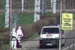 Ve Zlíně na ulici zkolaboval cizinec. Vykazoval symptomy nákazy Covid-19.FOTO