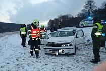 Dopravní nehoda mezi Polichnem a Uherským Brodem.