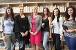 Návštěva ministryně Kateřiny Valachové na Střední průmyslové škole ve Zlíně.