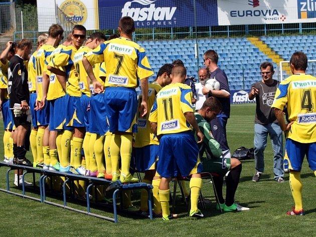 Fotografování fotbalistů FC FASTAV Zlín.