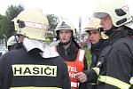 Taktické cvičení hasičů v přístavišti Spytihněv.