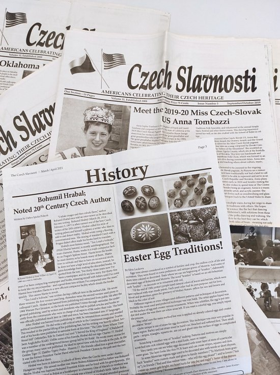 Výtisk krajanských novin CZECH SLAVNOSTI.