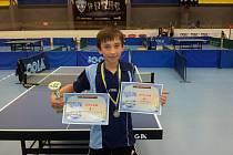 Výborného výsledku dosáhl stolní tenista KST Zlín Michal Nedbálek na prvním BTM v Praze.