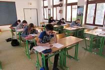 Z přípravy deváťáků ZŠ Fryšták na přijímací zkoušky.