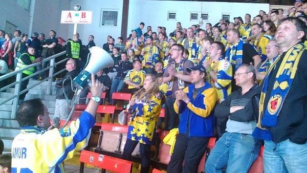 Konečně si vtéto semifinálové sérii zakriceli gól izlínští fandové.