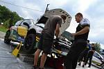 Testování vozů před Barum Rally ve Vizovicích