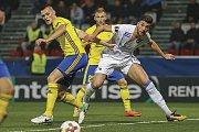 Mladý zlínský stoper Ondřej Bačo (ve žlutém dresu) si na podzim zahrál Evropskou ligu. V základní skupině narazil i FC Kodaň.