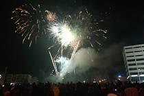 Novoroční ohňostroj. Ilustrační foto