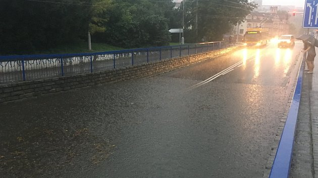Přívalový déšť ve Zlíně 26.8.2010