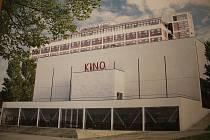 Vítězný návrh podoby Velkého kina ve Zlíně po jeho rekonstrukci.