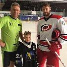 Aleš Jordán s vnukem Michalem a synem Michalem