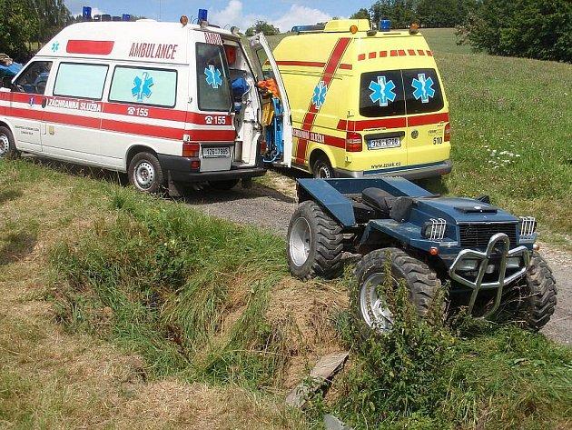 Nehoda čtyřkolky