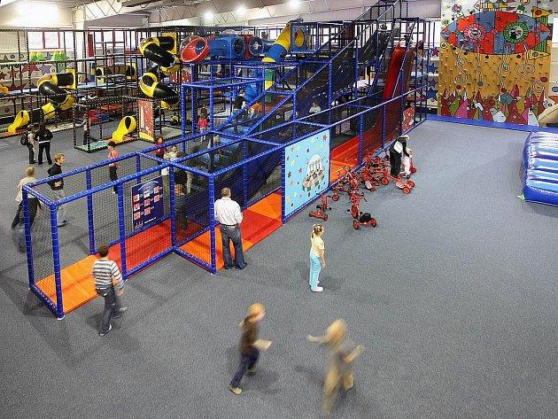 Zábavní centrum Galaxie ve zlínské čtvrti Vršava.