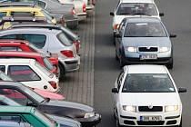 Parkování na Čepkově.