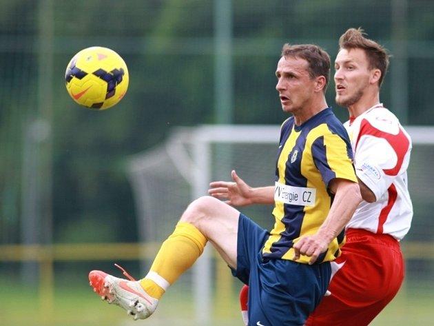 V přípravném zápase SFC Opava proti Zlínu se představila ve žlutomodrém dresu poprvé nova posila Opavy Zdeněk Pospěch.