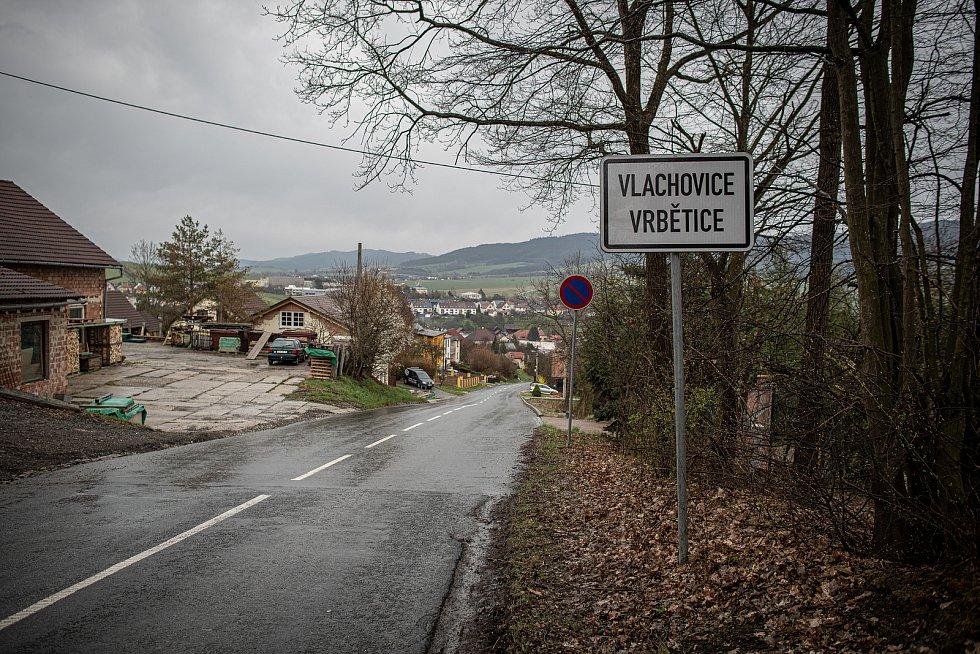 Obec Vlachovice - Vrbětice na Zlínsku v dubnu 2021