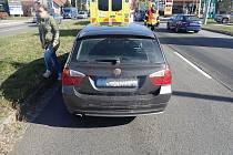 Ve Zlíně se v pátek srazila tři vozidla.