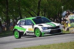 Vítězný vůz Škoda Fabia R5 s posádkou Jan Kopecký - Pavel Dresler