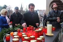 Připomínka výročí 17. listopadu na zlínském náměstí. Ilustrační foto