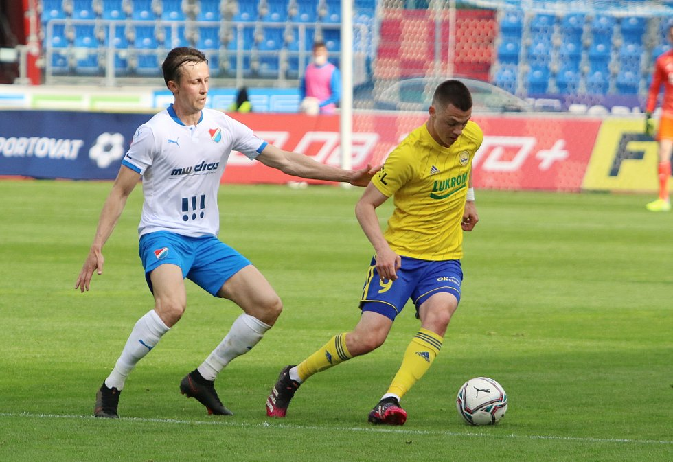 Fotbalisté Zlína se ve 32. kole FORTUNA:LIGY utkali s Baníkem Ostrava.