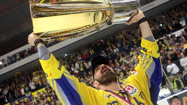Oslavy hokejistů Zlína po zisku titulu