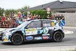 V rámci 49. ročníku Barum Czech Rally Zlín absolvovali v sobotu dopoledne jezdci rychlostní zkoušku Březová. Na snímku Roman Odložilík