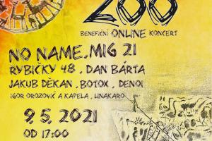 Benefiční online koncert Hrajeme pro 20 zoo potěší všechny hudební nadšence už v neděli 9. května od 17 hodin.