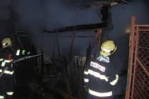 Požár garáže v Loučce na Vsetínsku