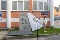 Odhalení pamětní desky Školy umění ve Zlíně.