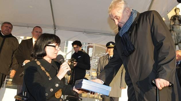 Prezident Miloš Zeman v Luhačovicích během návštěvy Zlínského kraje
