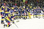 Hokejisté Aukro Berani Zlín smutní - po porážce 2:3 a celkově 1:3 na zápasy s Olomoucí pro ně skončila sezona.