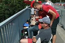 Most na Jižní Svahy, atraktivní místo pro diváky Barum rally.