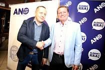 Komunální volby 2018  volební štáby. Miroslav Adámek a Roman Kaňovský