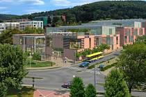 Plánované centrum na Březnické ve Zlíně