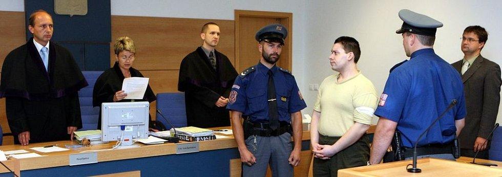 David Hladík u zlínského soudu