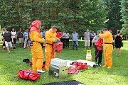 V rámci konference Medicína katastrof si hasiči města Zlína mohli vyzkoušet zásah.