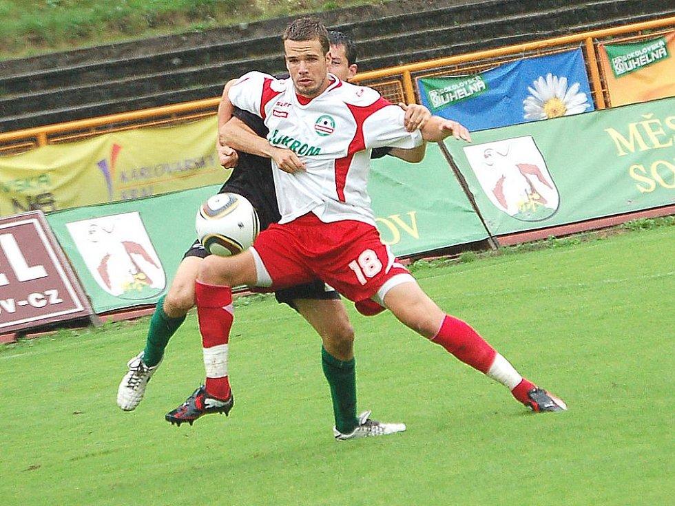 Utkání druhého kola druhé fotbalové ligy FK Baník Sokolov – FC Tescoma Zlín 2:3.